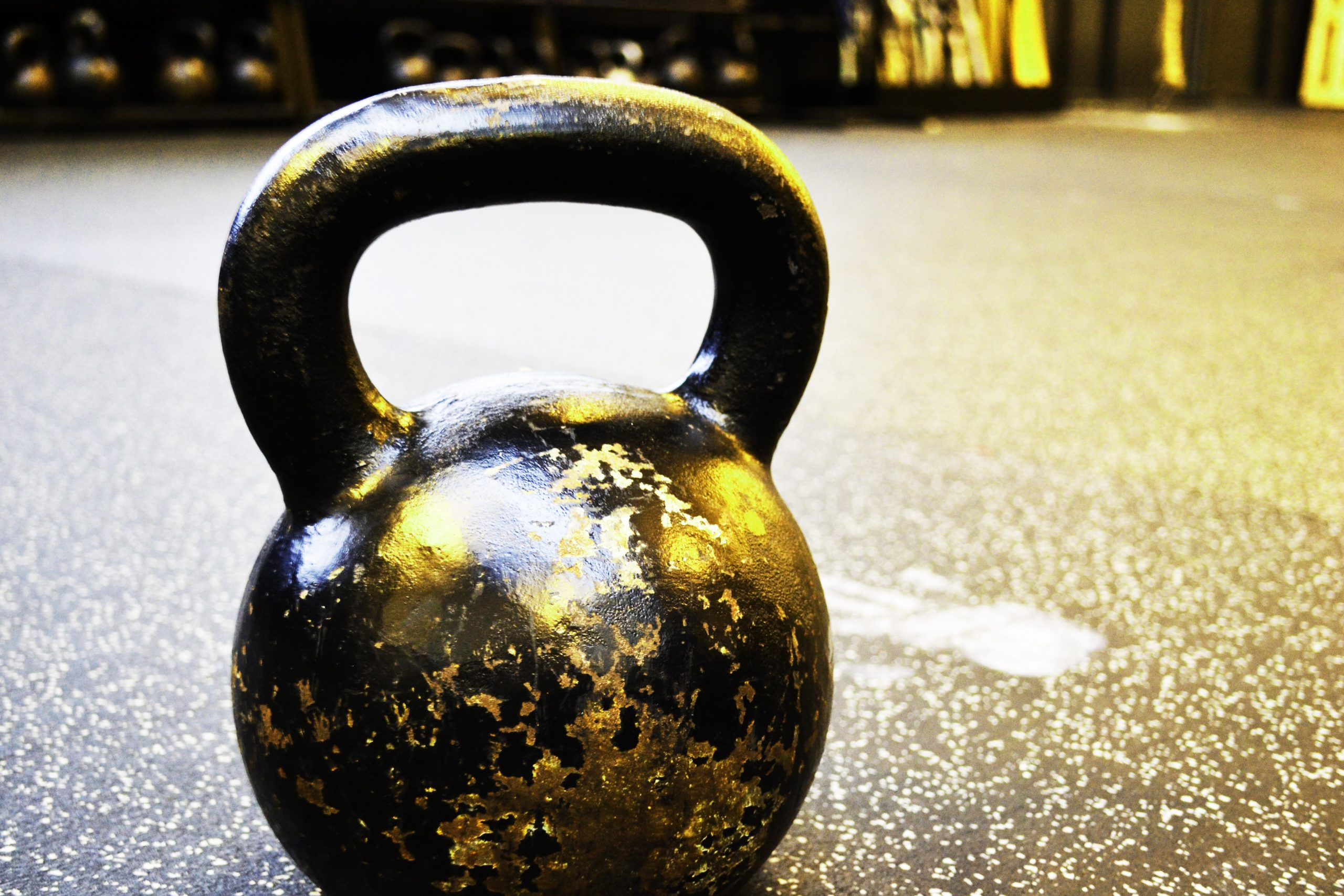 kettlebell on ground