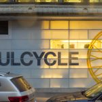 side of building with soulcycle logo